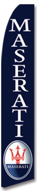 Swooper Flag - Blue Maserati Logo