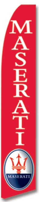 Swooper Flag - Red Maserati Logo