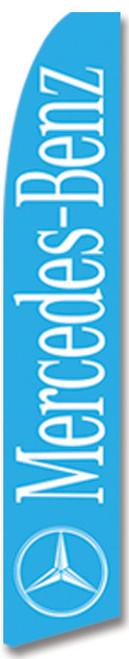 Swooper Flag - Blue Mercedes Benz Logo