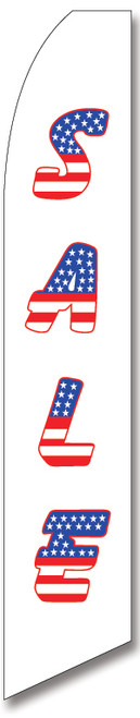 Swooper Flag - White Blue Red Sale