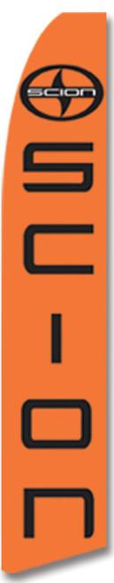 Swooper Flag - Orange Black Scion Logo