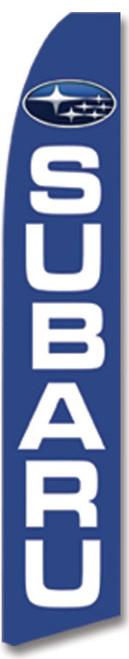 Swooper Flag - Blue White Subaru Logo