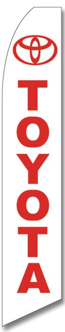 Swooper Flag - White Red Toyota Logo