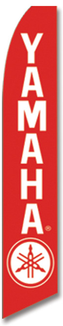 Swooper Flag - Red White Yamaha Logo