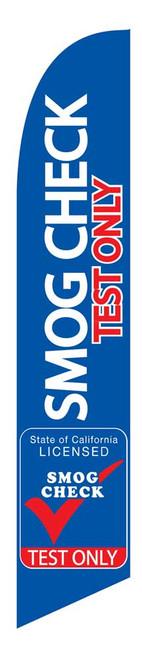 SMOG CHECK TEST ONLY 15 Ft Flag | Blue
