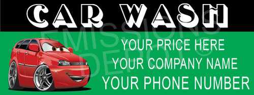 Car Wash - Semi Custom | Vinyl Banner
