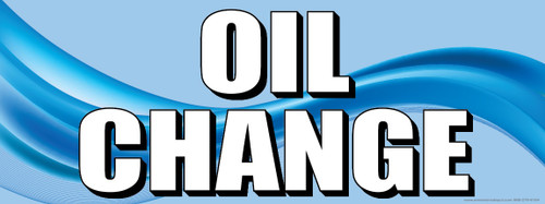 Oil Change | Blue | Vinyl Banner