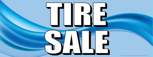 Tire Sale | Blue | Vinyl Banner