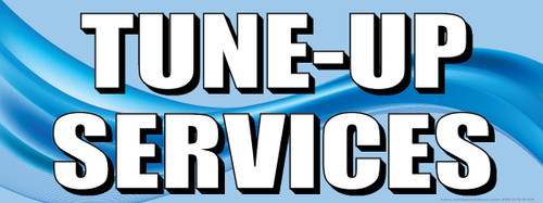 Tune-Up Services | Blue | Vinyl Banner
