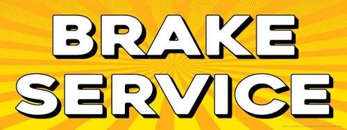 Brake Service | Yellow Orange Sun Burst | Vinyl Banner