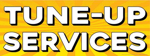 Tune-Up Services | Yellow Orange Sun Burst | Vinyl Banner