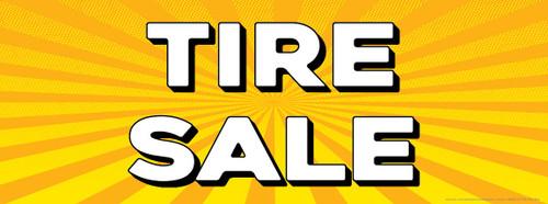 Tire Sale | Yellow Orange Sun Burst | Vinyl Banner
