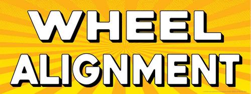 Wheel Alignment | Yellow Orange Sunburst | Vinyl Banner