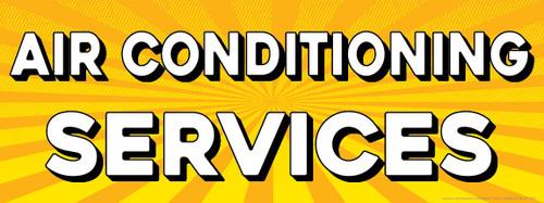 Air Conditioning | Yellow Orange Burst | Vinyl Banner