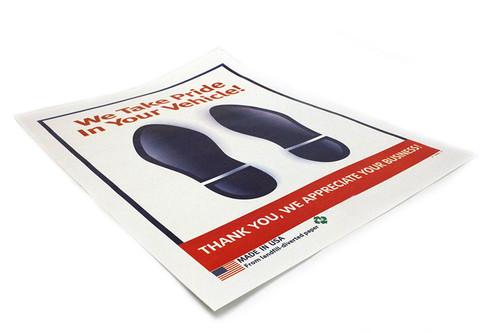 "17"" x 19"" Floor Mat Color ""Foot print""   Plain Paper  80# Mil Thickness   Ct: 500"