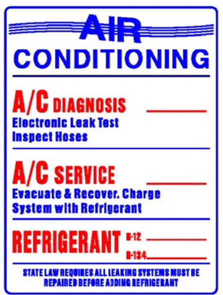 Sign - A/C Service Prices (18in x 24in)