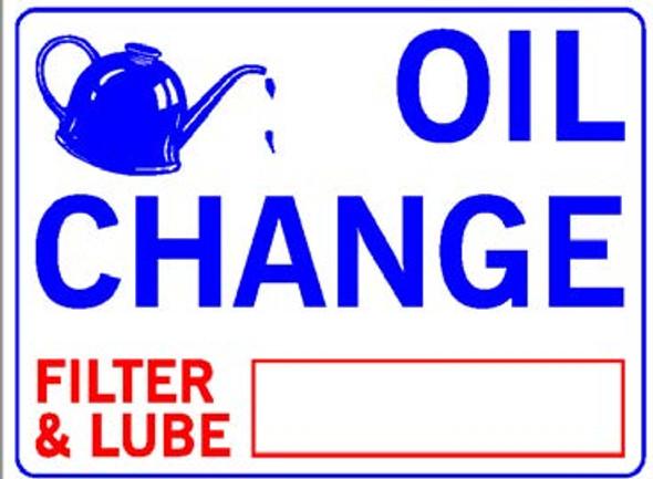 Sign - Oil Change Price (18in x 24in)