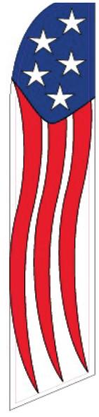 Swooper Flag - Red White Blue American Stream