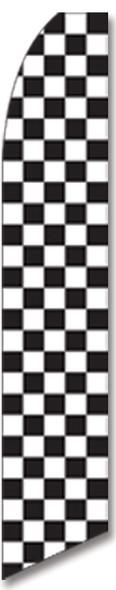 Swooper Flag - Black White Checkered