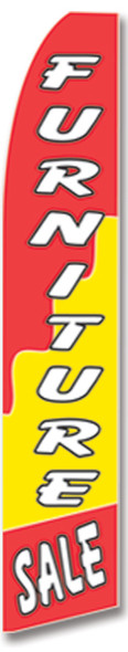 Swooper Flag - Red Yellow Furniture Sale