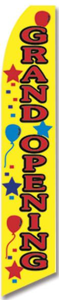 Swooper Flag - Yellow Grand Opening Istars Balloons