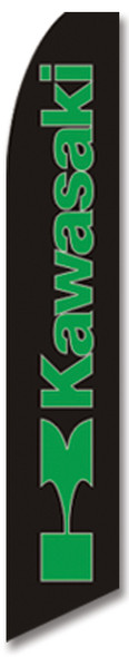 Swooper Flag - Black Kawasaki Image