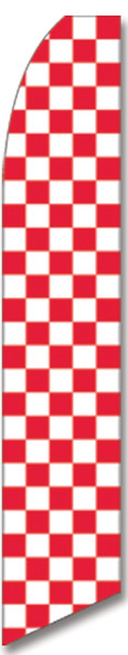 Swooper Flag - Checkered Red White