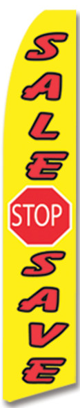 Swooper Flag - Yellow Red White Sale Stop Save