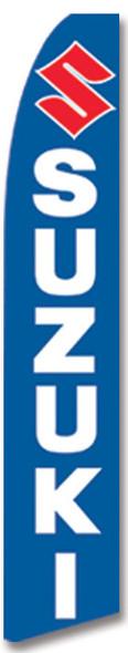 Swooper Flag - Blue White Red Suzuki Logo