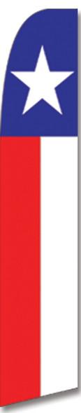 Swooper Flag - Blue White Red Texas Star