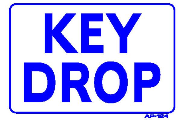 Sign - KEY DROP (7in x 10in)