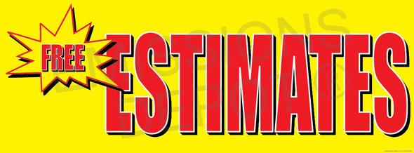 Free Estimates (Yellow / Red) | Vinyl Banner