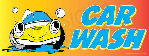 Car Wash | Red and Yellow | Vinyl Banner