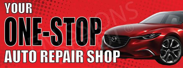 Your One Stop Auto Repair Shop | Vinyl Banner