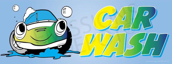 Car Wash | Yellow Green | Vinyl Banner