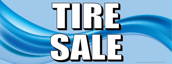 Tire Sale   Blue   Vinyl Banner