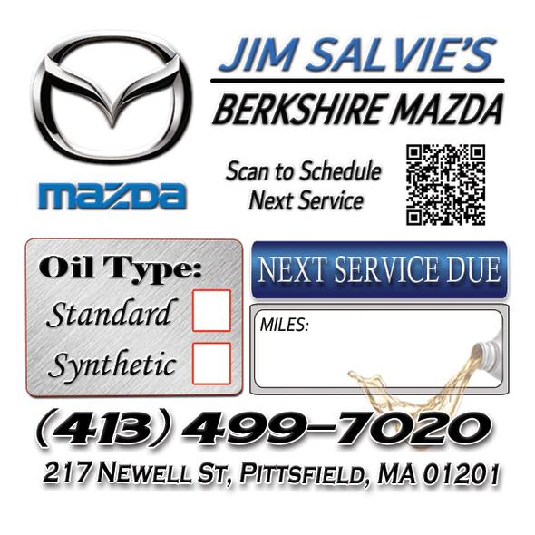 Mazda Dealership Oil Change Stickers | Full Color | Custom Designed