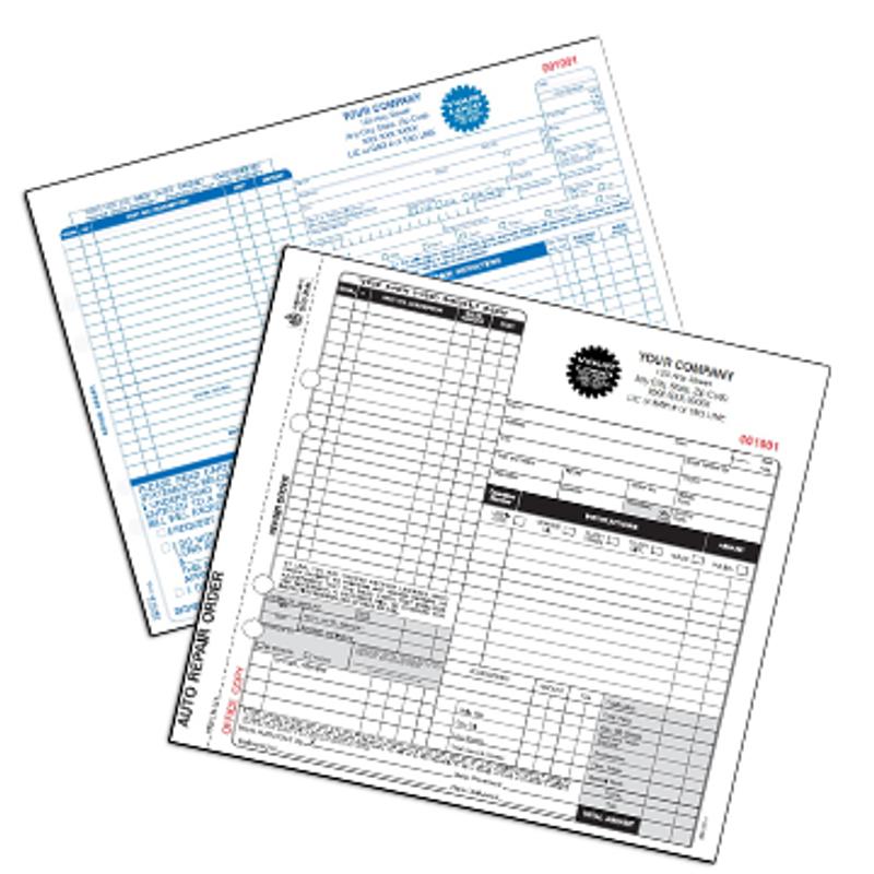Automotive Forms & Invoices