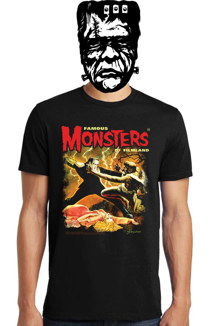 Famous Monsters Frankenstein vs Wolf Man Tee
