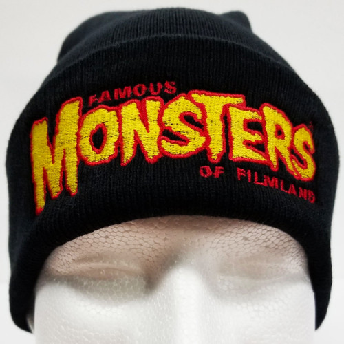 5e4801f6f29 Famous Monsters Logo Embroidered Cuffed Beanie - Red Yellow Logo.  25.99.  Famous Monsters Embroidered Dad Hat Black