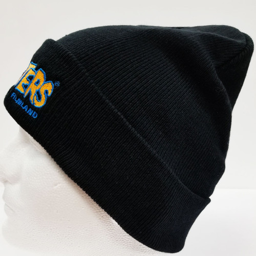273c6966e5d ... Famous Monsters Logo Embroidered Cuffed Beanie - Blue Orange Logo side  view 2 ...