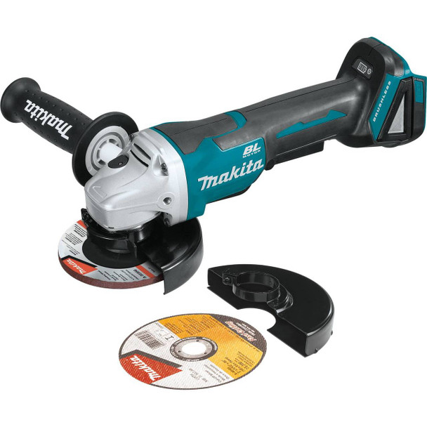 "18V LXT Lithium-Ion Brushless Cordless 4-1/2IN / 5"" Paddle Switch Cut-Off/Angle Grinder, with Electric Brake, Tool Only"