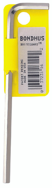 ".028"" Briteguard Plated Hex L-Wrench - Long    Tagged/Barcoded - 16100 - Quantity: 10"