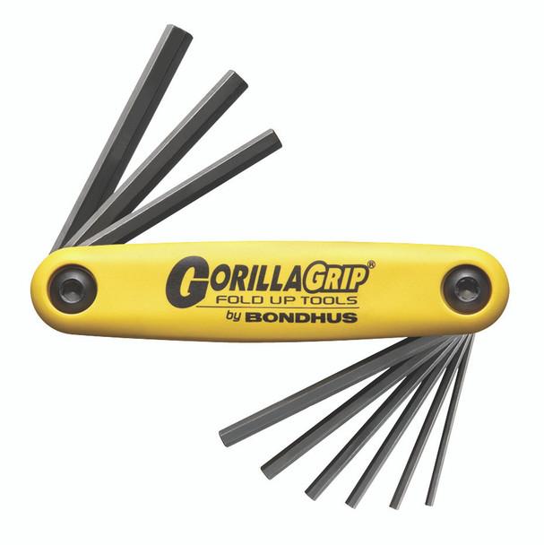"Set 9 Hex Gorillagrip Fold-Up Tools 5/64-1/4"" - 12589 - Quantity: 1"