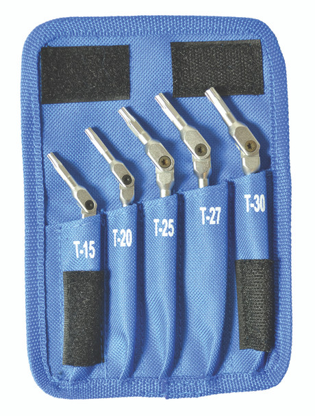 Set 5 Chrome Star Hex Pro Wrenches T15-T30 - 00019 - Quantity: 1