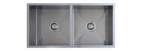 UPTOWN DOUBLE BOWL SQUARE SINK - 200mmD - QS2 / QR2