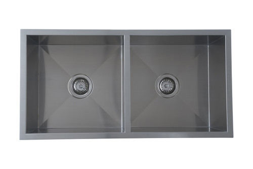 UPTOWN SQUARE DOUBLE BOWL SINK - 250mmD - UTS/UTR2