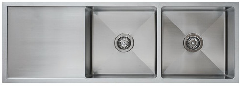 UPTOWN SQUARE DOUBLE BOWL SINK - 250mmD - UTR6