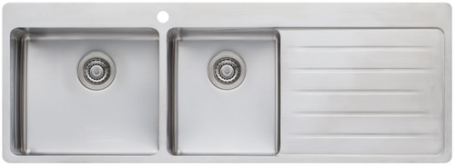 OLIVERI SONETTO DOUBLE BOWL TOPMOUNT SINK WITH CHOPPING BOARD - SN1011/SN1012