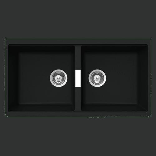 ABEY SCHOCK UNDERMOUNT CRISTADUR DOUBLE BOWL SINK - N200U